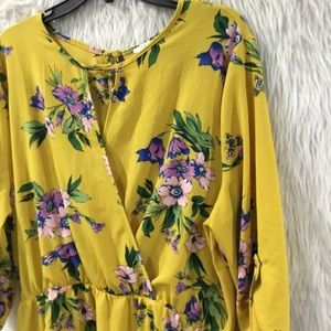 Iris yellow floral summer dress